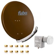 Antenna Fuba 85x85 cm in alluminio marrone DAA 850 B Set HDTV + Unicable-LNB + 10 connettori F