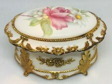 """The San Francisco Music Box Company Porcelain Jewelry Box Plays Song """"Memory"""""""