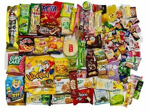 100 Piece Snack Box Japanese Korean Chinese Asian Treat Savory Testers Samples