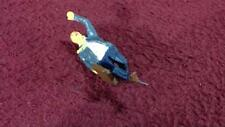 #36 O-SCALE CUSTOM PAINTED WHITE METAL FIGURE - MAN RUNNING TO CATCH BUS