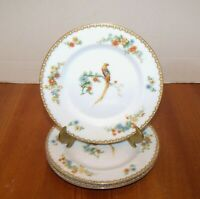 Set of Three MZ Altrohlau C-M R Czechoslovakia Asian Pheasant Dessert Plates