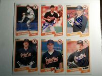 1990 Fleer Orioles Auto Lot Autograph Signed Cards Ripken Sheets Tibbs Hickey x6
