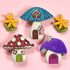 DRESS IT UP Buttons Shroom With A View 9002 - Mushrooms Fairies Gnomes Fairy