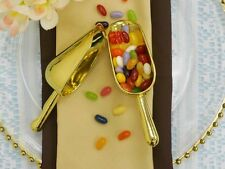 6 /pk Gold Plastic Disposable  Candy Scoop Wedding Party Catering