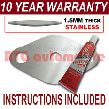 SAAB 9-3 9-5 93 95 DIESEL EGR BLANK PLATE 1.5MM STAINLESS STEEL HD SEALANT