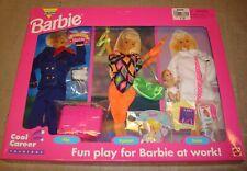 Vtg 1995 Barbie Cool Career Doll Doctor Gymnast Pilot 3 Piece Set 90s Outfits