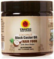 Tropic Isle Living Coconut Jamaican Black Castor Oil Hair Food 4 oz