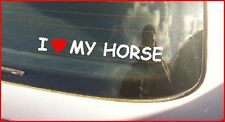"""I LOVE MY HORSE"" CAR VAN  WINDSCREEN /PANEL BUMPER STICKER DECAL GRAPHIC VINYL"