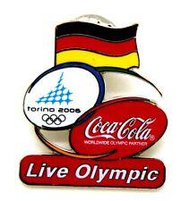 Pin Spilla Olimpiadi Torino 2006 - Coca-Cola Flag Germany
