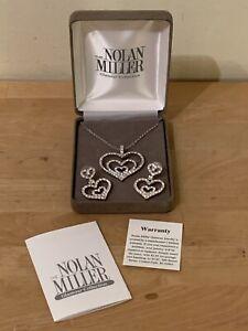 "Nolan Miller Glamour ""GRACIOUS HEART"" Triple Heart Necklace & Earrings Set"