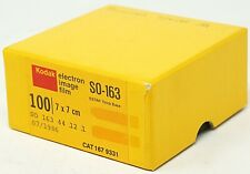 KODAK Electron Image Film SO-163 7x7 cm  Cat 167 9331 Sealed Box 1986