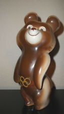Vintage Ceramic U.S.A. OLYMPICS RUSSIAN BEAR 8 Inch MASCOT Figurine