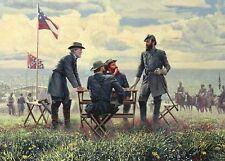 General Robert E Lee & Stonewall Jackson Manassas VA Military Civil War Postcard