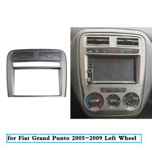 Double 2 Din Car Radio Fascia for Fiat Grand Punto 2005-2009 Left Wheel Drive