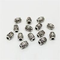 10 of 925 Sterling Silver Barrel Cross Beads Bulk Spacer Beads for Bracelet