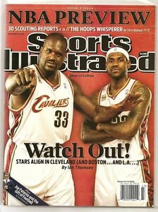 Lebron James Sports Illustrated Cleveland Cavaliers Shaquille O'Neal 2009