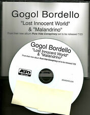 GOGOL BORDELLO Lost Innocent World / Malandrino 2013 PROMO DJ CD single MINT