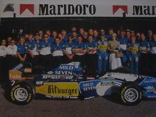 Poster Mild Seven Benetton Renault Team Portrait 1995