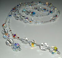 Gorgeous Handcrafted Swarovski Crystal and Glass Lariat Necklace