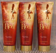 3 NEW Bath & Body Works Signature FOREVER RED ULTRA SHEA Body Cream