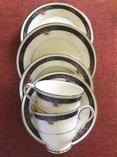 "Noritake ""Etienne"" (6 Pieces) 2 Cups, 2 Saucers, 2 Dessert Plates ~ #7260 ~Mint"