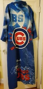 Chicago Cubs Fleece Snuggie Blanket Robe with Sleeves OSFM