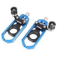 Pair Adjuster Chain Tensioner Roller Aluminum Fit Yamaha YZF R1 2004-2005 Blue
