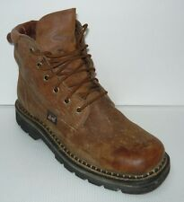 Justin 0412 Cowboy Boots Brown Lace-up Western Womens 9.5B