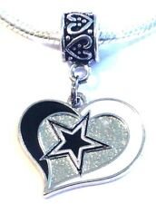 NFL Dallas Cowboys Dangle Pendant Charm for European Charm Bracelet or Necklace