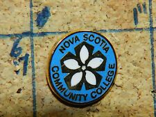 "NOVA SCOTIA COMMUNITY COLLEGE WHITE FLOWER CANADA METAL 5/8"" LAPEL PIN"