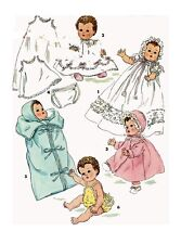 "Betsy Wetsy Tiny Tears by Ideal 11.5"" Doll Clothing PATTERN 1406 Bunting Sunsuit"