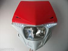 Ufo Road Legal Red Headlight Enduro Motorcycle Crf250 Xr Crf Ec Te Xlr Crf450