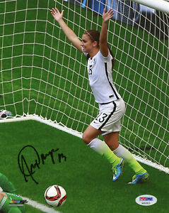 Alex Morgan Signed PSA/DNA COA 8X10 USA Women's Soccer Photo Auto USWNT Japan