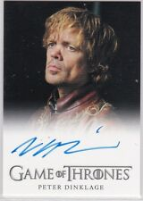 GAME OF THRONES SEASON 2 PETER DINKLAGE AS TYRION LANNISTER AUTOGRAPH VERY LMTD