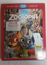 Disney Zootopia Blu-Ray DVD NEW w/ Exclusive Packaging + Bonus Content SEALED