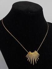 Michael Kors Goldtone FASHION TRIBAL Matchstick Frontal Necklace MKJ4505 $145