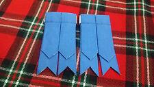 TC Men's Kilt Sock Flashes Air Force Blue Tartan/Scottish Kilt Hose Flashes