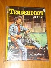 TENDERFOOT WESTERN BRITISH ANNUAL WILL HUTCHINS 1960 VG <