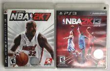 Lot Of 2 Playstation 3 Games NBA 2K13/ NBA 2K7 2013/ 2007 Basketball Video Game