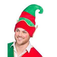 Chapeau de Lutin Vert Rouge avec Elfes Oreilles Noël Nouveauté Comédie