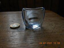 Early Antique Unusual Squat Petrol Blue Glass Eye Bath