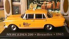 MERCEDES 200 D TAXI BRUXELLES 1962 1/43 BELGIQUE JAUNE