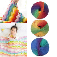 50g/Ball Hand-woven Knitting Crochet Cashmere Wool Blend Sweater Yarn Multicolor