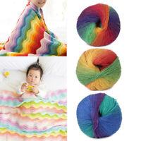 50g/Ball Hand-woven Knitting Crochet Cashmere Wool Blend Sweater Yarn Multicolor