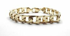 Gold curb bracelet 9 carat yellow gold hallmarked 31.2g length 8.4 inches