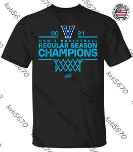 Villanova Wildcats 2021 Men's Basketball Regular Season Champions T-Shirt S-4XL