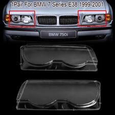 2x BMW E46 headlight glass cover headlamp lens Sedan Saloon Set SEALS 98-01