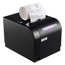 80mm Bluetooth Thermal Receipt Printer with Flash Light for Order Come Reminder