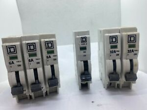 Square D QOE Qwikline type 2 type 3 M6  M9 MCB Miniature Circuit Breaker  BS3871