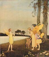 ORIGINAL Vintage Fairy Art by Ida Rentoul Outhwaite 1929 Fantasy Wall Art Matted